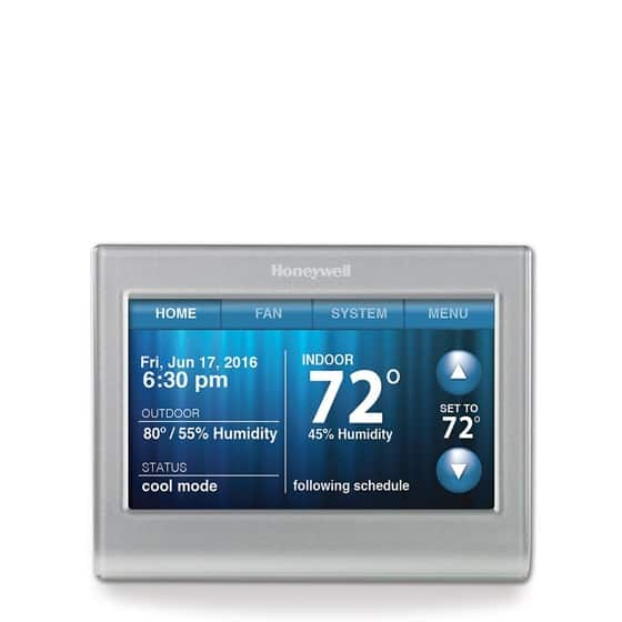 honeywell rth9580wf wi fi smart touchscreen thermostat. Black Bedroom Furniture Sets. Home Design Ideas
